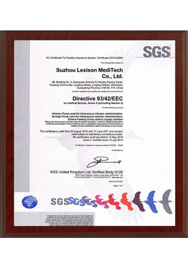 CE SGS Syringe Pump