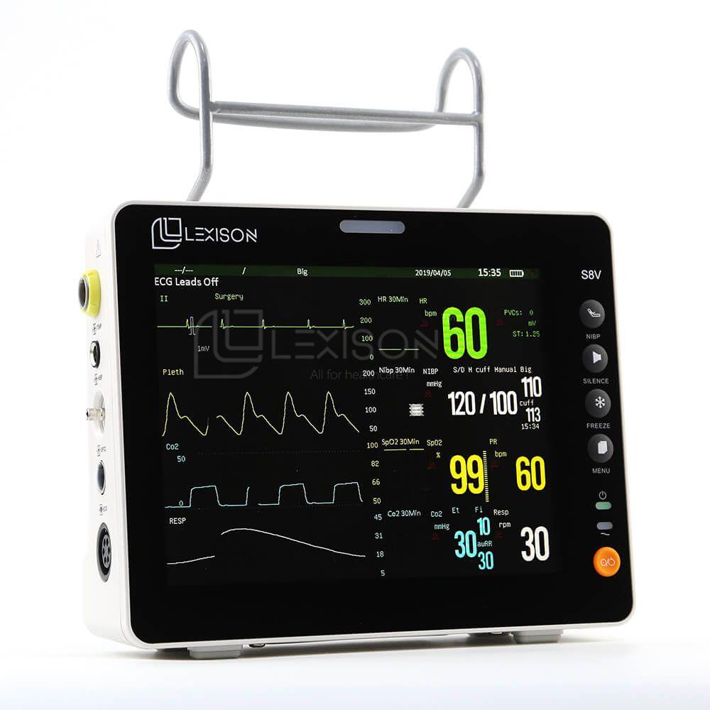 PPM-S8V High Quality 8inch Multi-parameter Veterinary Monitor